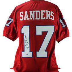 """Emmanuel Sanders Signed Jersey Inscribed """"SMU!"""" (PSA COA)"""
