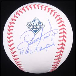"Gerardo Parra Signed 2019 World Series Baseball Inscribed ""19 WS Champs"" (Beckett COA)"