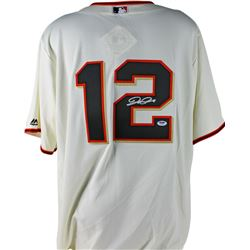 Joe Panik Signed Giants Jersey (PSA COA)