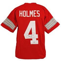 Santonio Holmes Signed Jersey (Beckett COA)