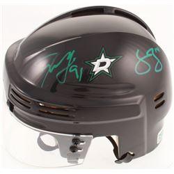 Tyler Seguin  Jamie Benn Signed Stars Mini Helmet (Seguin COA  Benn COA)