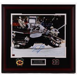 Scott Darling Signed Blackhawks 25x27 Custom Framed Photo Display (Darling COA)