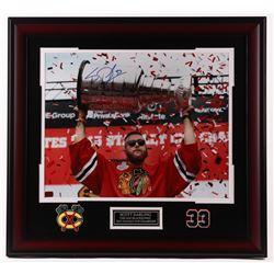 Scott Darling Signed Blackhawks 25.5x27.5 Custom Framed Photo Display (Darling COA)