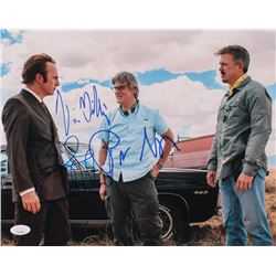 "Bob Odenkirk, Vince Gilligan  Peter Gould Signed ""Better Call Saul"" 11x14 Photo (JSA COA)"