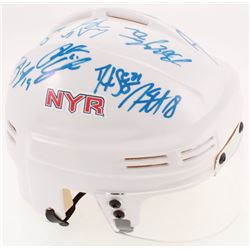 2012-13 Rangers Mini Helmet Team-Signed by (14) with Ryan McDonagh, Ryan Callahan, Daniel Girardi, M