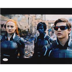 "Sophie Turner  Tye Sheridan Signed ""X-Men: Apocalypse"" 11x14 Photo (JSA COA)"