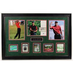 Tiger Woods 2004 SP Signature Signs of a Champion 8x10 #TW2 23.5x35.5 Custom Framed 8x10 Card Displa