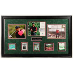 Tiger Woods 2004 SP Signature Signs of a Champion 8x10 #TW2 23x29 Custom Framed Masters Golf Ticket