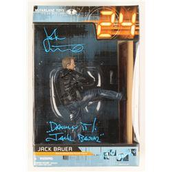 "Kiefer Sutherland Signed ""24"" Jack Bauer Deluxe Boxed Set Action Figure with Inscriptions (JSA COA)"