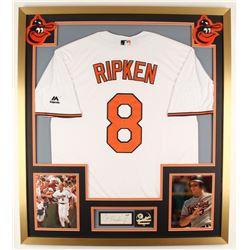Cal Ripken Jr. Signed Orioles 32x36 Custom Framed Cut Display with Pin (PSA COA)