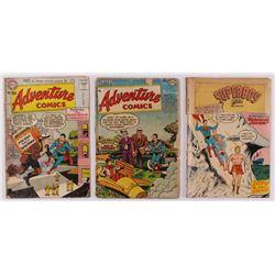 "Lot of (3) 1954-1956 ""Adventure Comics"" DC Comic Books"