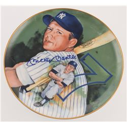 """Mickey Mantle Signed LE """"Mickey"""" Porcelain Plate (Beckett LOA)"""