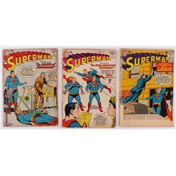 "Lot of (3) 1957-58 ""Superman"" DC Comic Books"