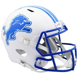 Lions Full-Size Matte White Speed Helmet