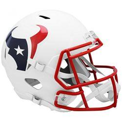 Texans Full-Size Matte White Speed Helmet