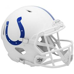 Colts Full-Size Authentic On-Field Matte White Speed Helmet