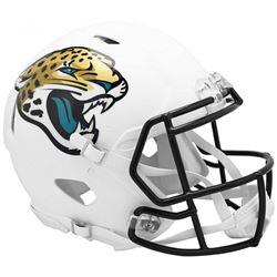 Jaguars Full-Size Authentic On-Field Matte White Speed Helmet