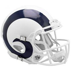 Rams Full-Size Authentic On-Field Matte White Speed Helmet