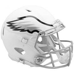 Eagles Full-Size Authentic On-Field Matte White Speed Helmet