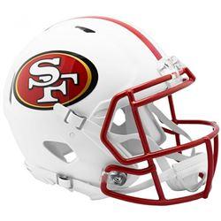 49ers Full-Size Authentic On-Field Matte White Speed Helmet