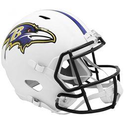 Ravens Full-Size Matte White Speed Helmet