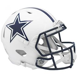 Cowboys Full-Size Authentic On-Field Matte White Speed Helmet
