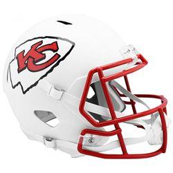 Chiefs Full-Size Matte White Speed Helmet