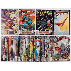 "Lot of (40) 1988-2004 ""Superman"" 2nd Series Action Comics DC Comic Books"