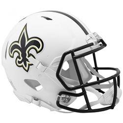Saints Full-Size Authentic On-Field Matte White Speed Helmet