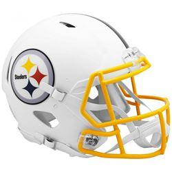 Steelers Full-Size Authentic On-Field Matte White Speed Helmet