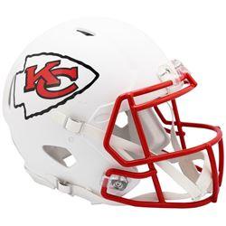 Chiefs Full-Size Authentic On-Field Matte White Speed Helmet