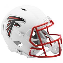 Falcons Full-Size Matte White Speed Helmet