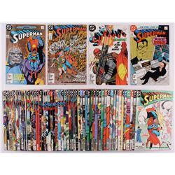 "Lot of (60) 1987-2002 ""Superman"" 2nd Series Action Comics DC Comic Books"