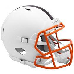 Browns Full-Size Matte White Speed Helmet