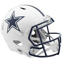 Cowboys Full-Size Matte White Speed Helmet