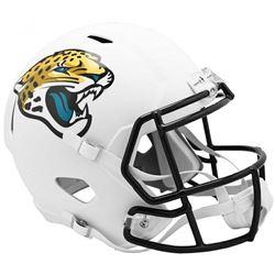 Jaguars Full-Size Matte White Speed Helmet