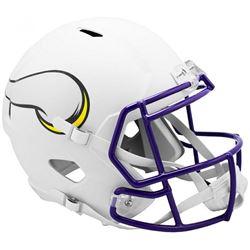 Vikings Full-Size Matte White Speed Helmet