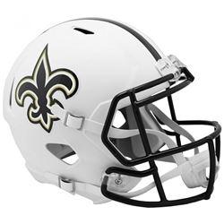 Saints Full-Size Matte White Speed Helmet