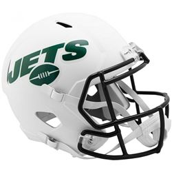 Jets Full-Size Matte White Speed Helmet