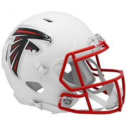 Falcons Full-Size Authentic On-Field Matte White Speed Helmet