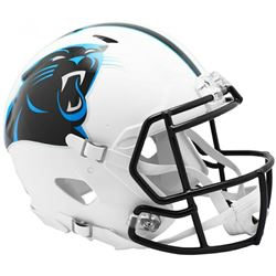 Panthers Full-Size Authentic On-Field Matte White Speed Helmet