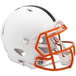 Browns Full-Size Authentic On-Field Matte White Speed Helmet
