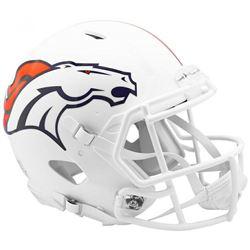 Broncos Full-Size Authentic On-Field Matte White Speed Helmet
