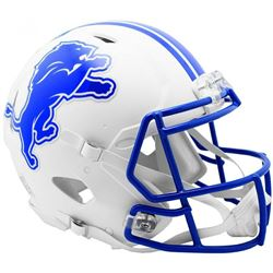 Lions Full-Size Authentic On-Field Matte White Speed Helmet