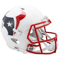 Texans Full-Size Authentic On-Field Matte White Speed Helmet