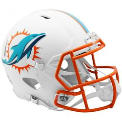 Dolphins Full-Size Authentic On-Field Matte White Speed Helmet