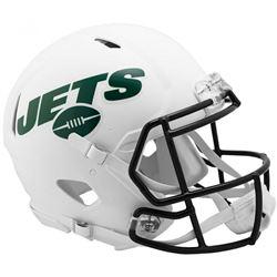 Jets Full-Size Authentic On-Field Matte White Speed Helmet