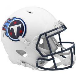 Titans Full-Size Authentic On-Field Matte White Speed Helmet