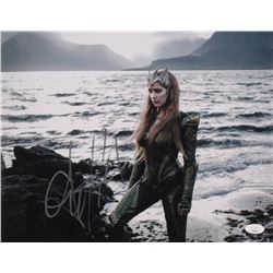"Amber Heard Signed ""Aquaman"" 11x14 Photo (JSA COA)"