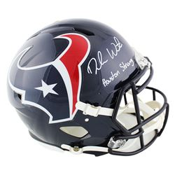 """Deshaun Watson Signed Texans Full-Size Authentic On-Field Speed Helmet Inscribed """"Houston Strong"""" (B"""